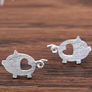 925 SS Piggy Earrings